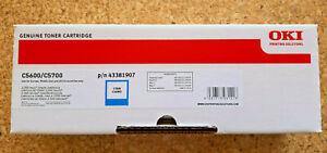 original OKI Toner -blau/cayan - 43381907 für C5600/C5700