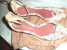 NEW Laura Ashley FLORAL PATTERN  ladies shoes size 6
