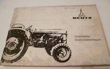 Deutz Fahr trattori d4005 catalogo parti di ricambio