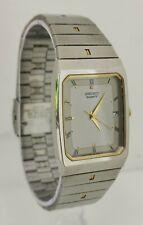 Vtg 1996 Seiko 5P32-5080 Stainless Steel & Gold Quartz Gents Dress Wrist Watch