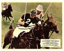 Thomas Crown Affair original lobby card Steve McQueen plays polo