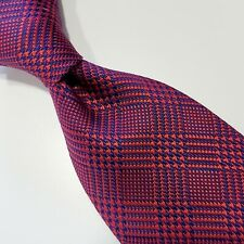 A3) BROOKS BROTHERS STAIN RESISTANT HOUNDSTOOTH 100% SILK NECKTIE