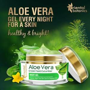 Oriental Botanics Aloe Vera, Green Tea & Cucumber Night Gel Cream, 50gm