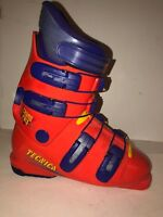 Retro Tecnica Grand Prix Ski Boots Size US 6 Mens 7 Womens 24.0 38 EU Orange Vtg