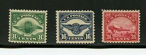 U. S. #C4-C6 (US664) Comp Propeller, Emblem, Biplane MNH, FVF, CV$285.00