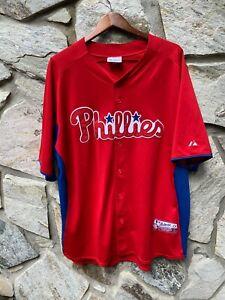 Vintage Authentic Stitched Majestic MLB Philadelphia Phillies Jersey Size XXL