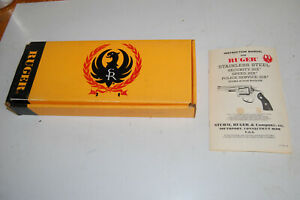 Ruger SECURITY SIX  Yellow Black & Red  Revolver Box & Owners Manual