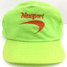 Vintage Newport Cap Cigarettes Hat Logo Snapback Baseball Trucker Neon Green