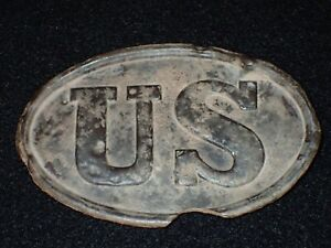 Civil War US Federal Union Army Belt Buckle Plate Original Excavated Condition