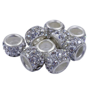 10Pcs 12mm Crystal Acrylic Loose Beads DIY For Jewelry Making Wholesale Pendant