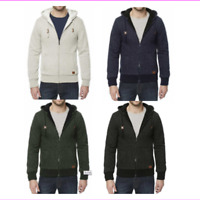 Buffalo Men's Sherpa Lined Full Zip Hoodie Jacket