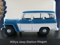 BoS 87010 Willys Jeep Station Wagon (1954) in blau/weiß 1:87/H0 NEU/OVP