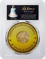 Gold Double Pinch from the SS Central America in PCGS Holder