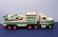 1991 Hess Gas Toy Truck & Race Car w/ Exterior Lights
