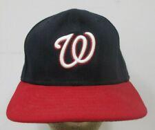 Vintage Washington Baseball Fitted Hat Cap 7 5/8 5950 New Era Blue USA