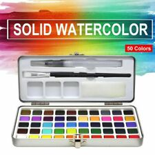 50color Transparent Solid Watercolor Portable Watercolor Pigment For Kid Drawing