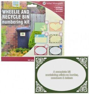Centurion Wheelie & Recycle Bin Numbering Kit Numbers