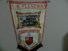 "Rare 1974 BRAZILIAN SOCCER PENNANT C.R.Flamengo PHOTO Banner 21""x14"" CAMPEONATOS"