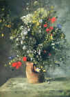 "RENOIR - Flowers in a Vase - *FRAMED* CANVAS ART 20x16"""