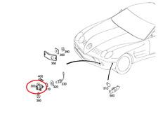 Aussenleuchte - Nebelleuchte L+R Mercedes SLR : A1998201456