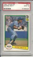 1982 Donruss George Brett #34 PSA 9 Mint Baseball Card.