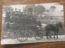 c1910 RPPC Yorkshire Postcard Farnley Leeds Day Out Horse & Cart Social History
