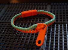 Pulsera De Cremallera Zip-Naranja Y Menta
