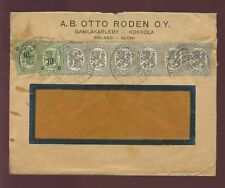 FINLAND 1920 COVER PROVISIONALS + 5p RODEN + TPO + SEAL