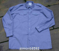 ROYAL AIR FORCE SURPLUS RAF BLUE POLYCOTTON MENS LONG SLEEVED G1 UNIFORM SHIRT