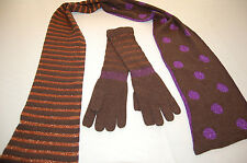 $166 NWOT MARC BY MARC JACOBS Wool Blend Scarf Glove Set One Size