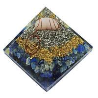 Extra Large 65-70mm Lapis Lazuli Orgone Pyramid Energy Generator EMF Protection