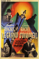 Le Grand Sommeil The Big Sleep Bogart Bacall Vintage Movie Poster