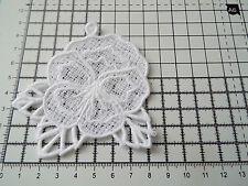 Large White Flower Guipure Lace,Applique,Trimming,Wedding- Pansy Motif -9 x 8 cm