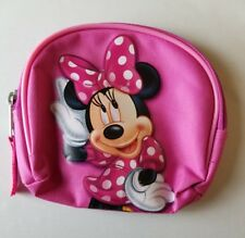 Disney Minnie Mouse Bag Pink Zip Around Makeup Tote Cosmetic Travel Pencil Case