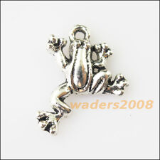 10 New Lovely Animal Frog Tibetan Silver Tone Charms Pendants 17.5x21mm