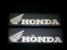 2 x Honda CBR 125R 600R 1000 White Reflective motorcycle sticker decal motorbike