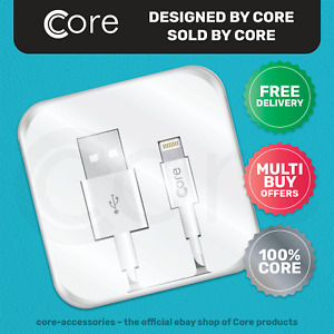 1m 8-Pin to USB Fast Charge Cable Apple iPhone 7 7S 8 8S X XS 11 White CORE