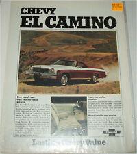 1974 Chevrolet El Camino truck ad #1