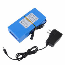 Blue 20000mAh Lithium-ion Super Rechargeable Battery +AC Power Charger US Plug@D