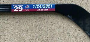 Colorado Avalanche Nathan MacKinnon Game Used 2021 SEASON 1-24-21 vs Ducks