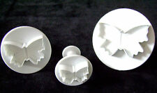 NEW 3 BUTTERFLY PLUNGER CUTTERS FOR ICING SUGARPASTE SUGAR CRAFT APOLLO 6551