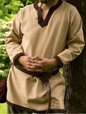 New LARP tunic beige brown size large (f7btesac204)