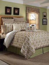 4-Pc Croscill Pina Colada Bay Breeze Queen Comforter Set Pineapple Trellis