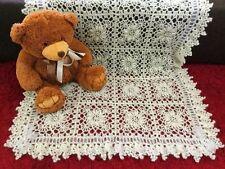 Wool Blend Crochet Nursery Blankets & Throws