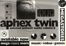 """NEWSPAPER CLIPPING/ADVERT 12/3/94PGN51 7X11"""" APHEX TWIN : SELECTED AMBIENT WORKS"""