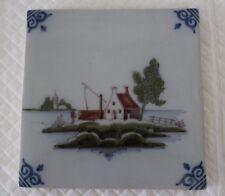 Tichelaar Makkum Polychrome Tile - House & Boat