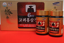 6 Year Korean Red Ginseng Extract 365 240g 8.5oz 2P Saponine Ginsenoside Panax
