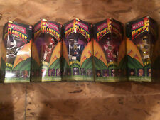 "1993 Mighty Morphin Power Rangers 8"" Action Figures Set of 5 w/ Bandai Box  TY"