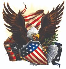 "American Eagle Flag Shield Patriotic Decal 28""X 23""  Trailer RV Truck Boat"