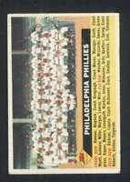 1956 Topps #72 Phillies Team EX+ Phillies 82747